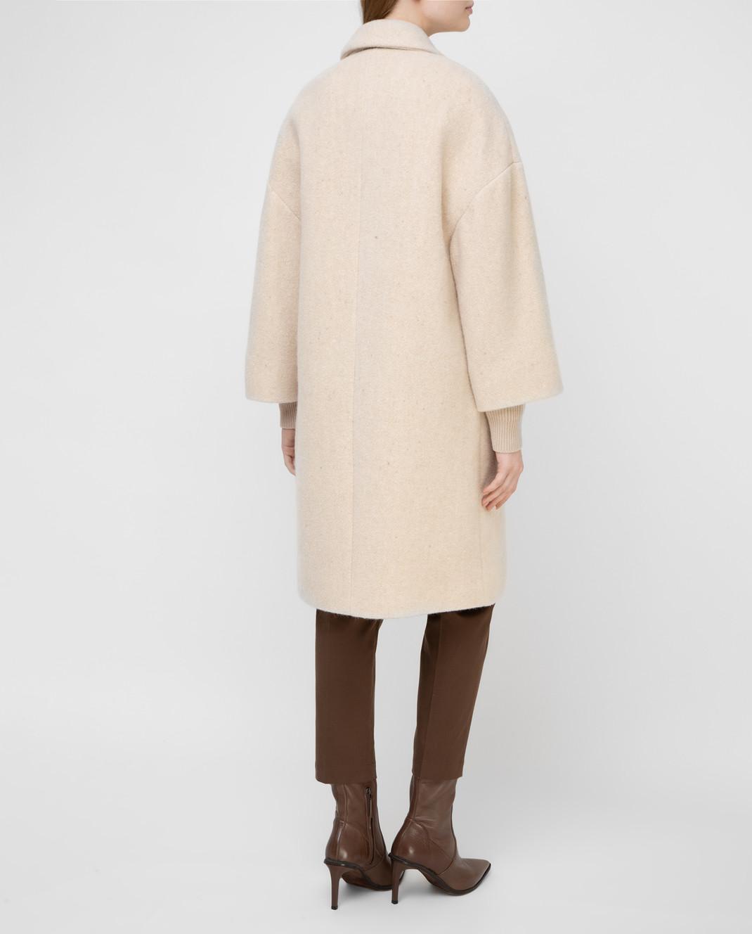 Brunello Cucinelli Светло-бежевое пальто изображение 4