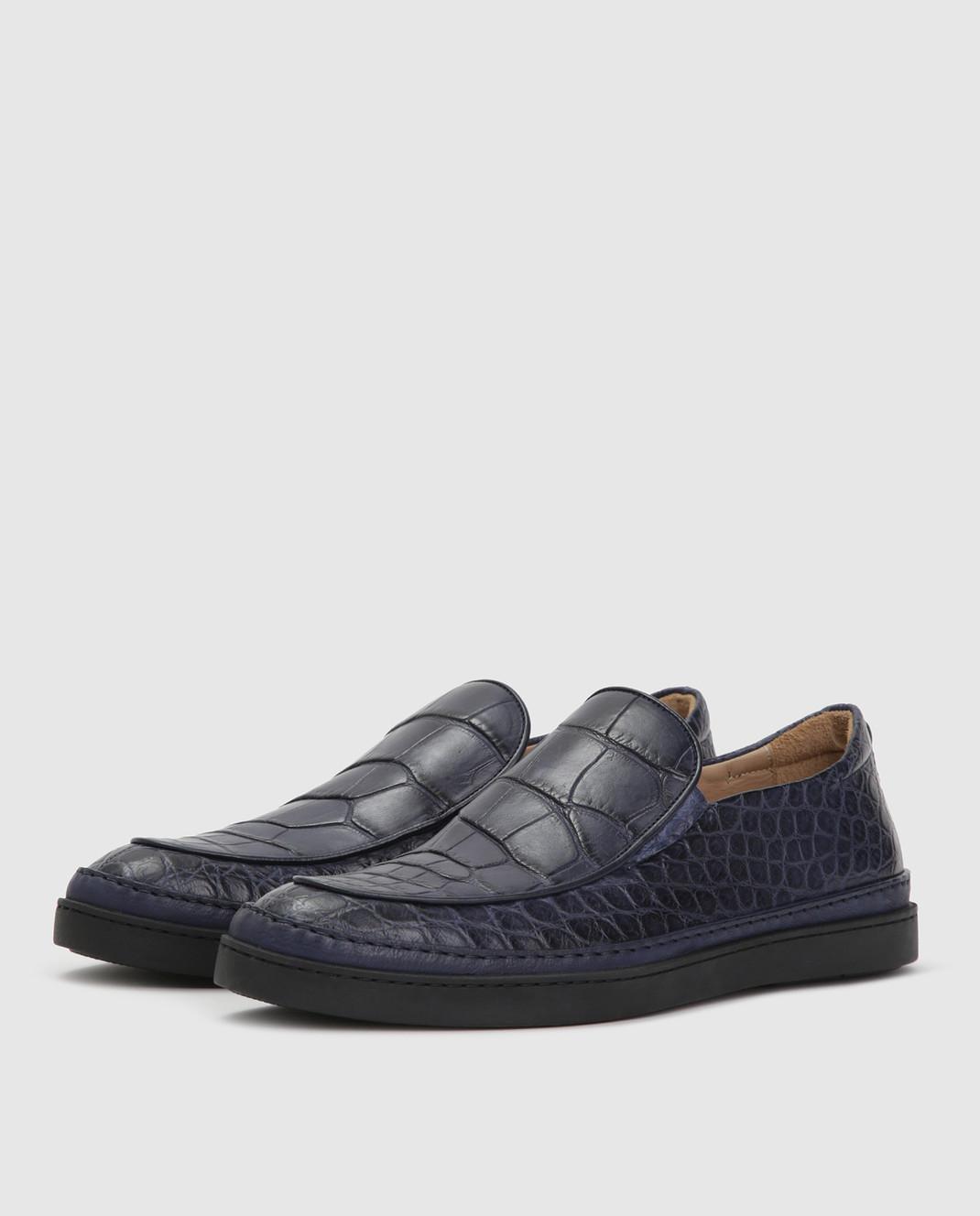 Del Dami Синие туфли из кожи аллигатора изображение 3
