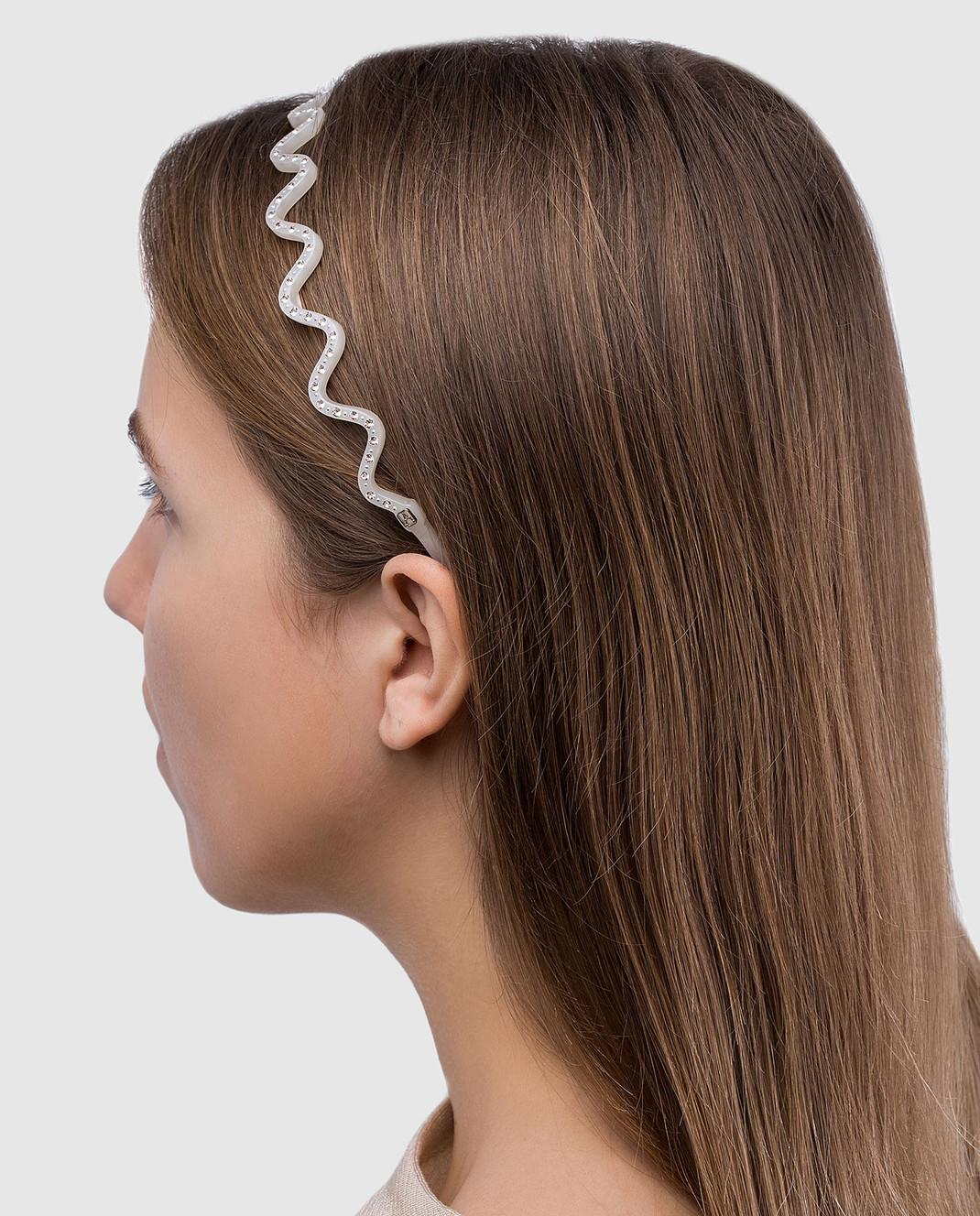 Alexandre De Paris Бежевый обруч для волос ILeDeRe изображение 2