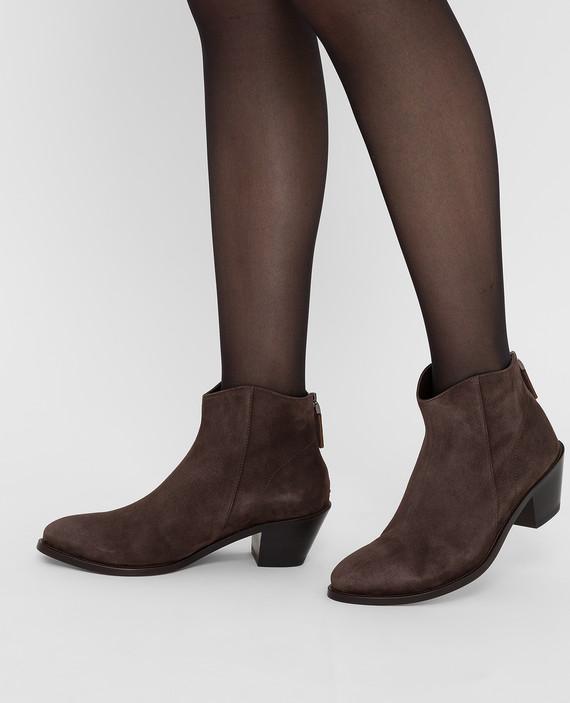 Темно-коричневые замшевые ботинки hover