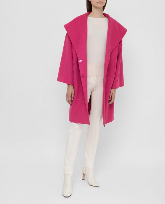 Малиновое пальто из шерсти и кашемира hover