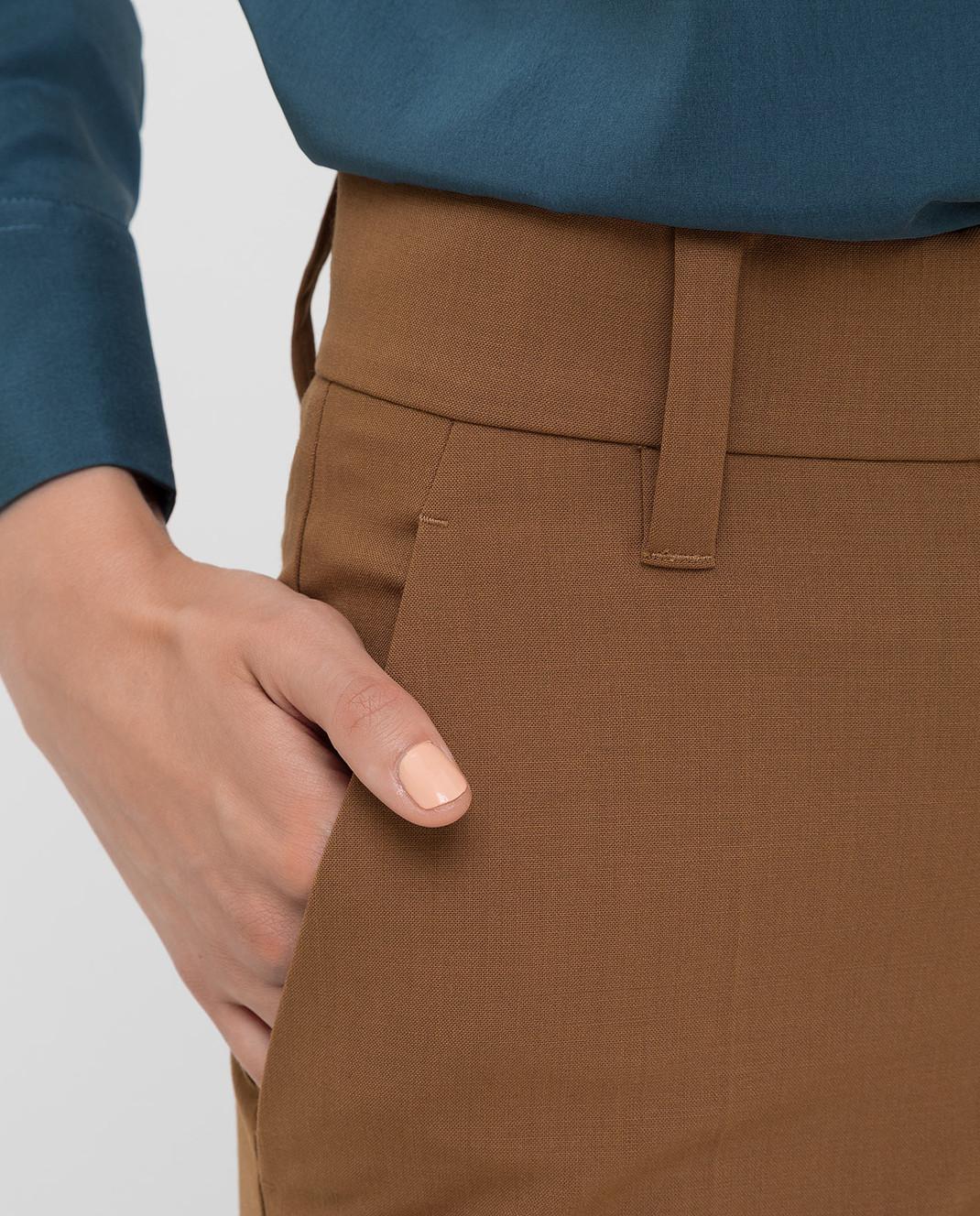 Brunello Cucinelli Коричневые брюки изображение 5
