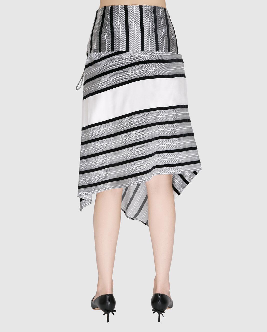 Etro Серая юбка из шелка изображение 4