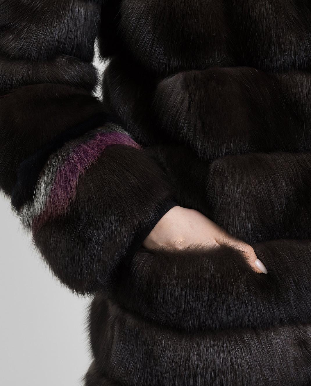 Rindi Темно-коричневая шуба из соболя 431ZB018 изображение 5