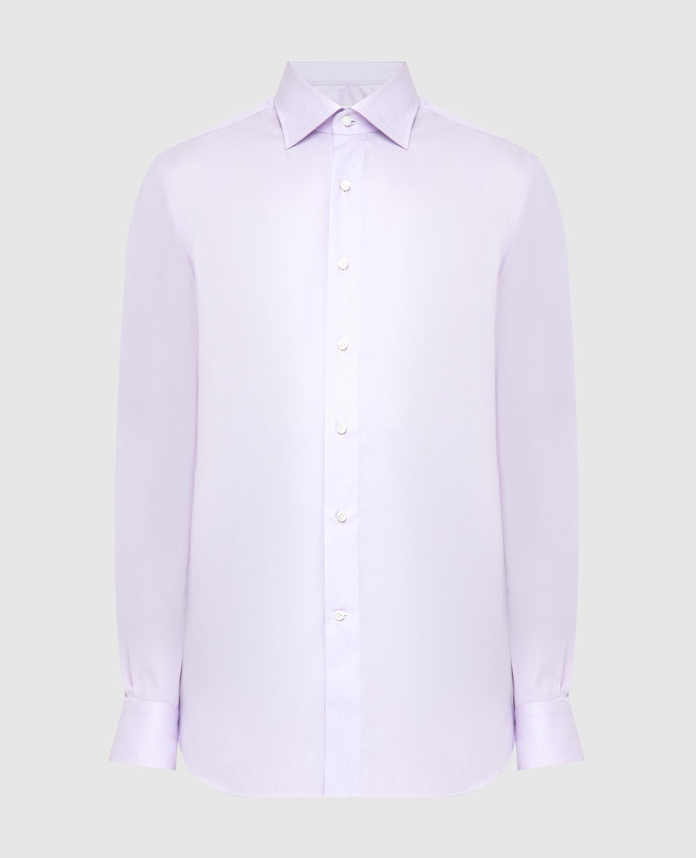 Сиреневая рубашка