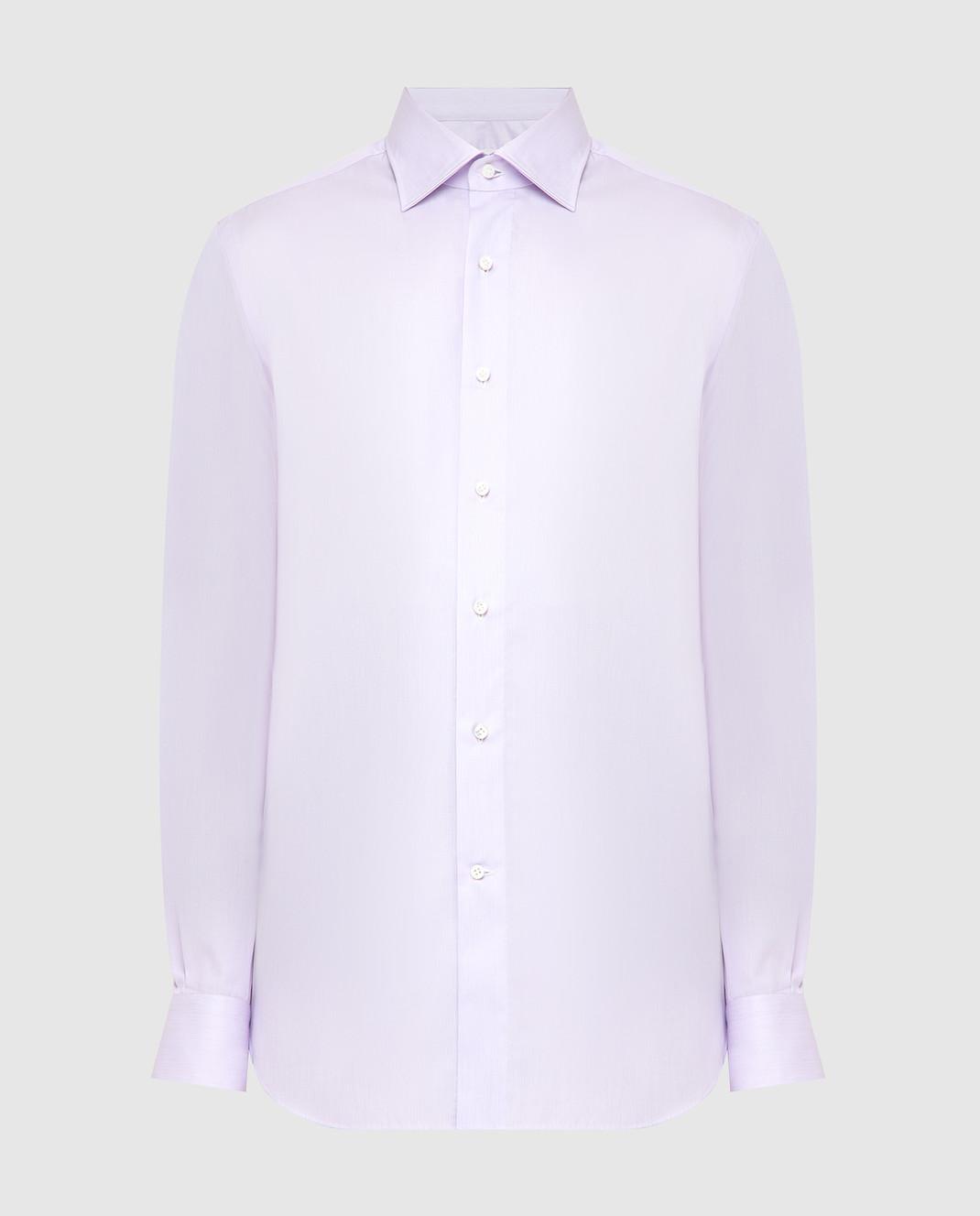 Luciano Lombardi Сиреневая рубашка 4653085