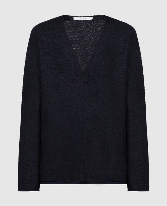 Темно-синий пуловер