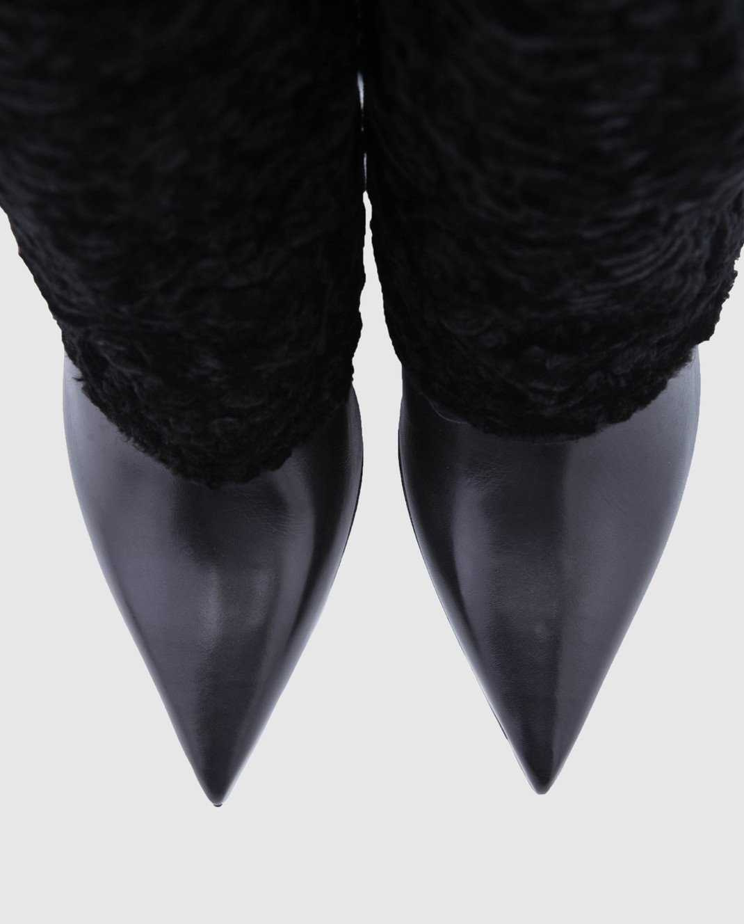 Balmain Черные сапоги W8FC315PAGB изображение 4