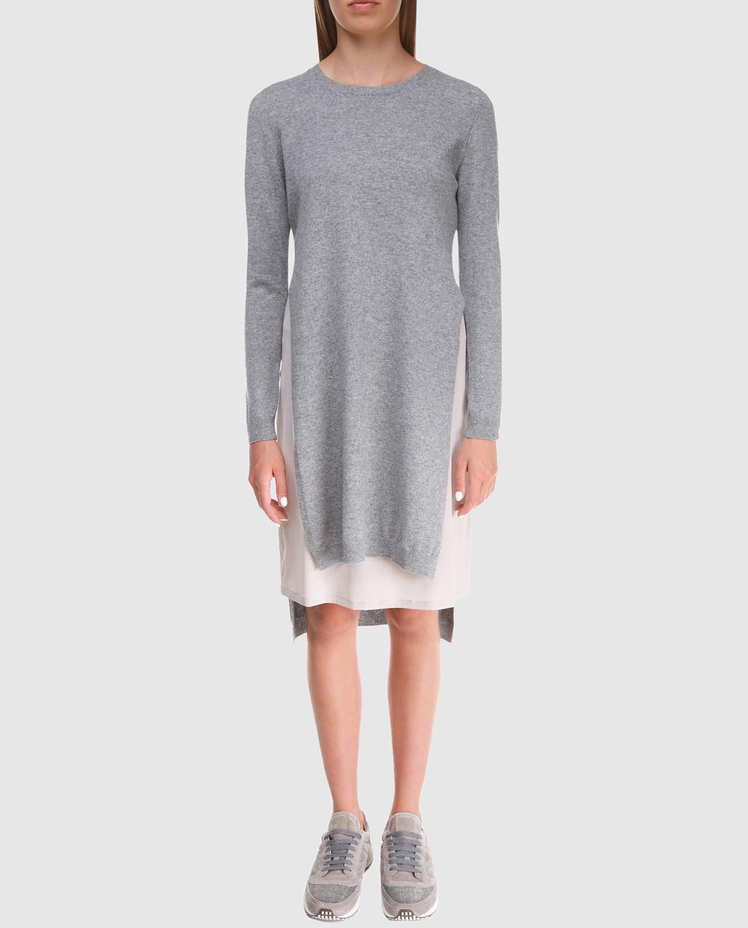Peserico Серое платье из шерсти S82017F12U9018 изображение 3