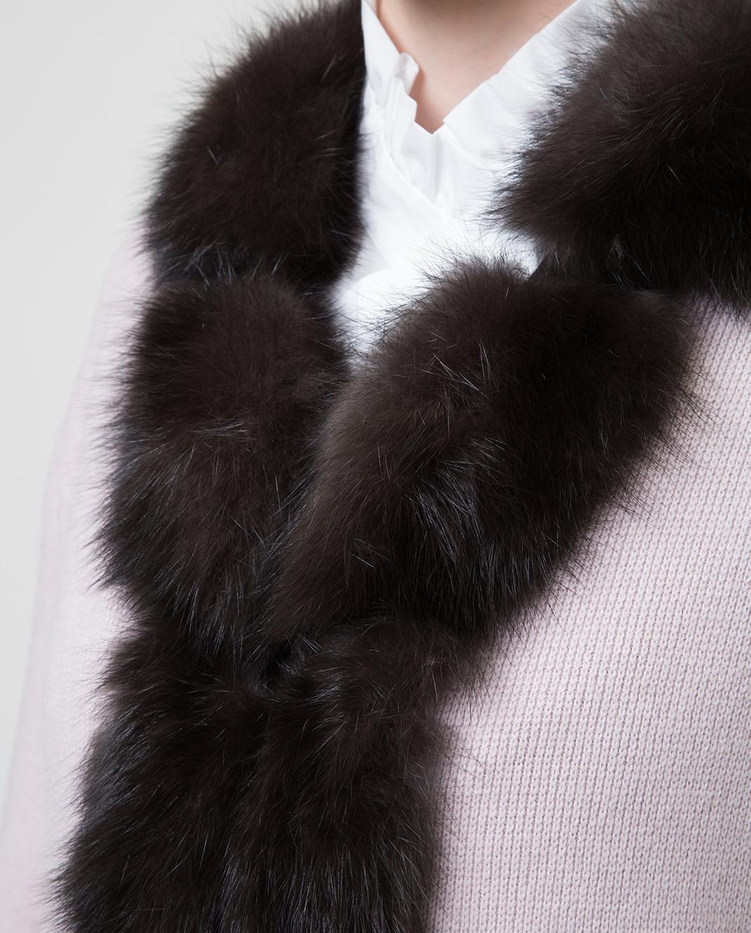 Real Furs House Пудровое пальто CSR01 изображение 5