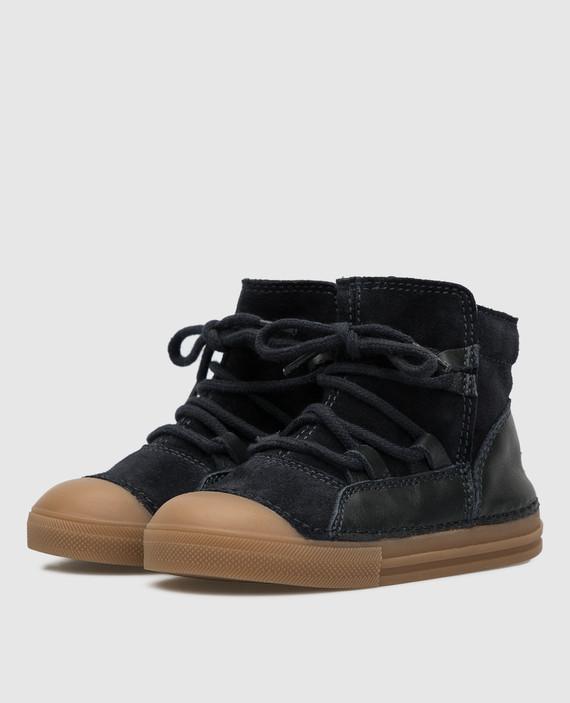Детские темно-синие ботинки на меху hover