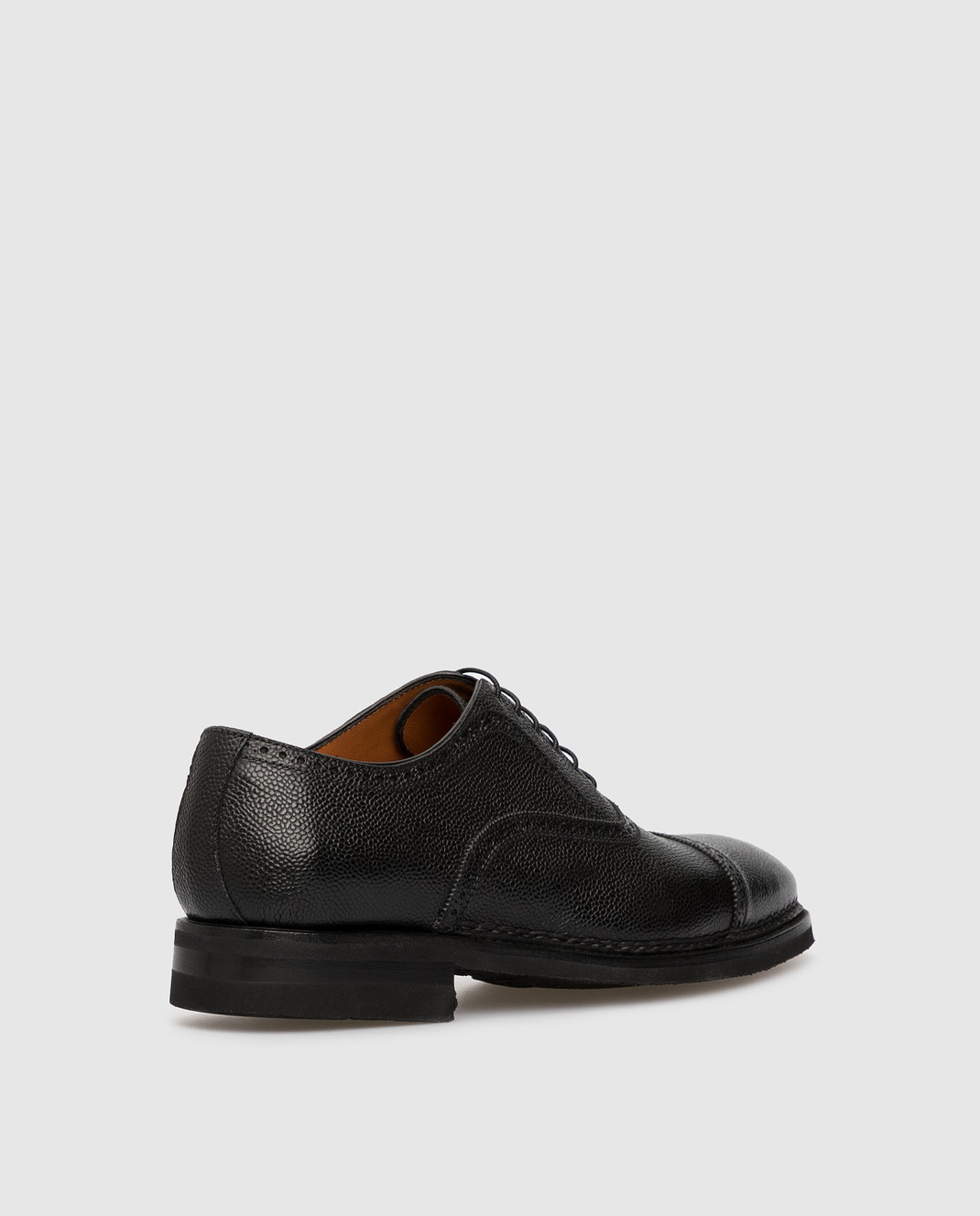 Черные кожаные броги Bontoni BELLANTONIO — Symbol