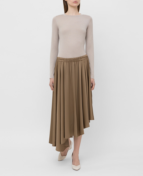 Бежевая юбка hover
