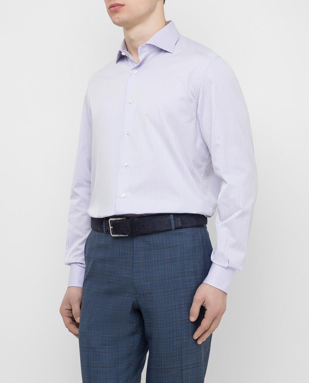 Stefano Ricci Сиреневая рубашка MC000540L1812 изображение 3