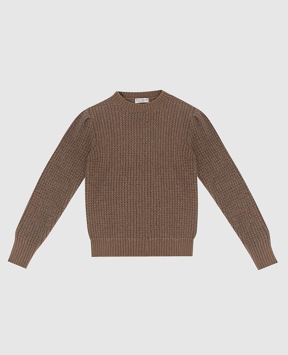 Детский коричневый свитер