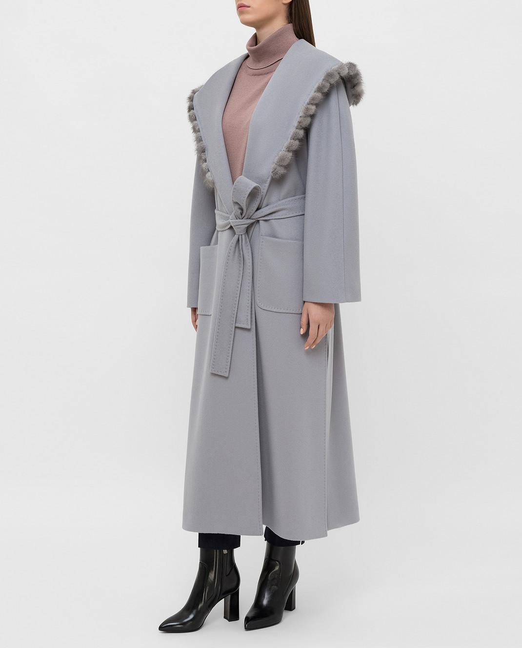 Heresis Серое пальто из шерсти M33130VIF260 изображение 3