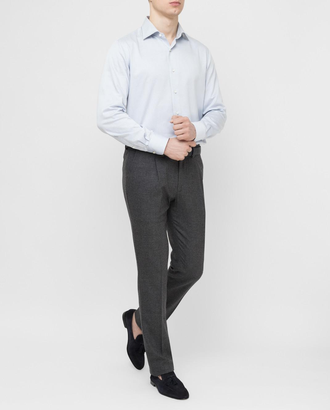 Luciano Lombardi Голубая рубашка 66216210 изображение 2