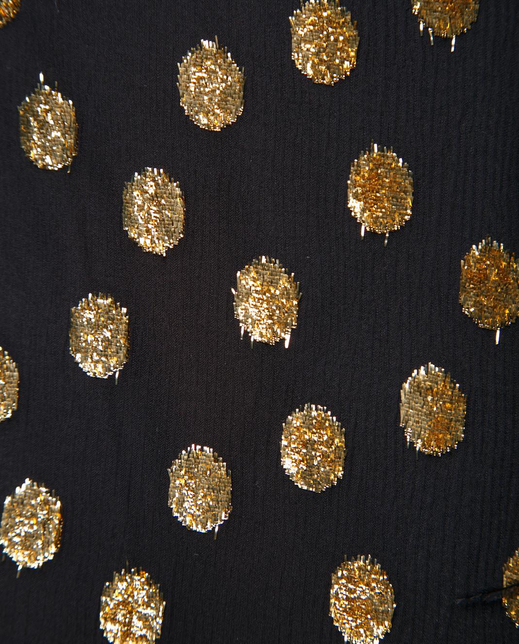 Valentino Черное шифоновое платье QB2VAIK043C изображение 6