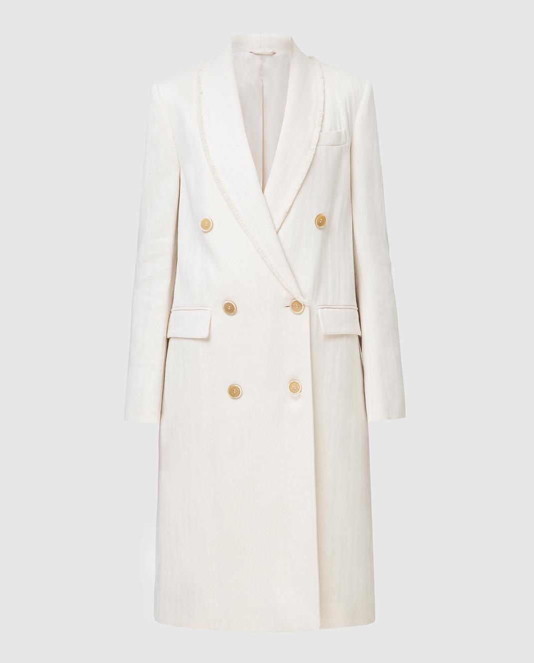 Brunello Cucinelli Белое пальто MF5779291