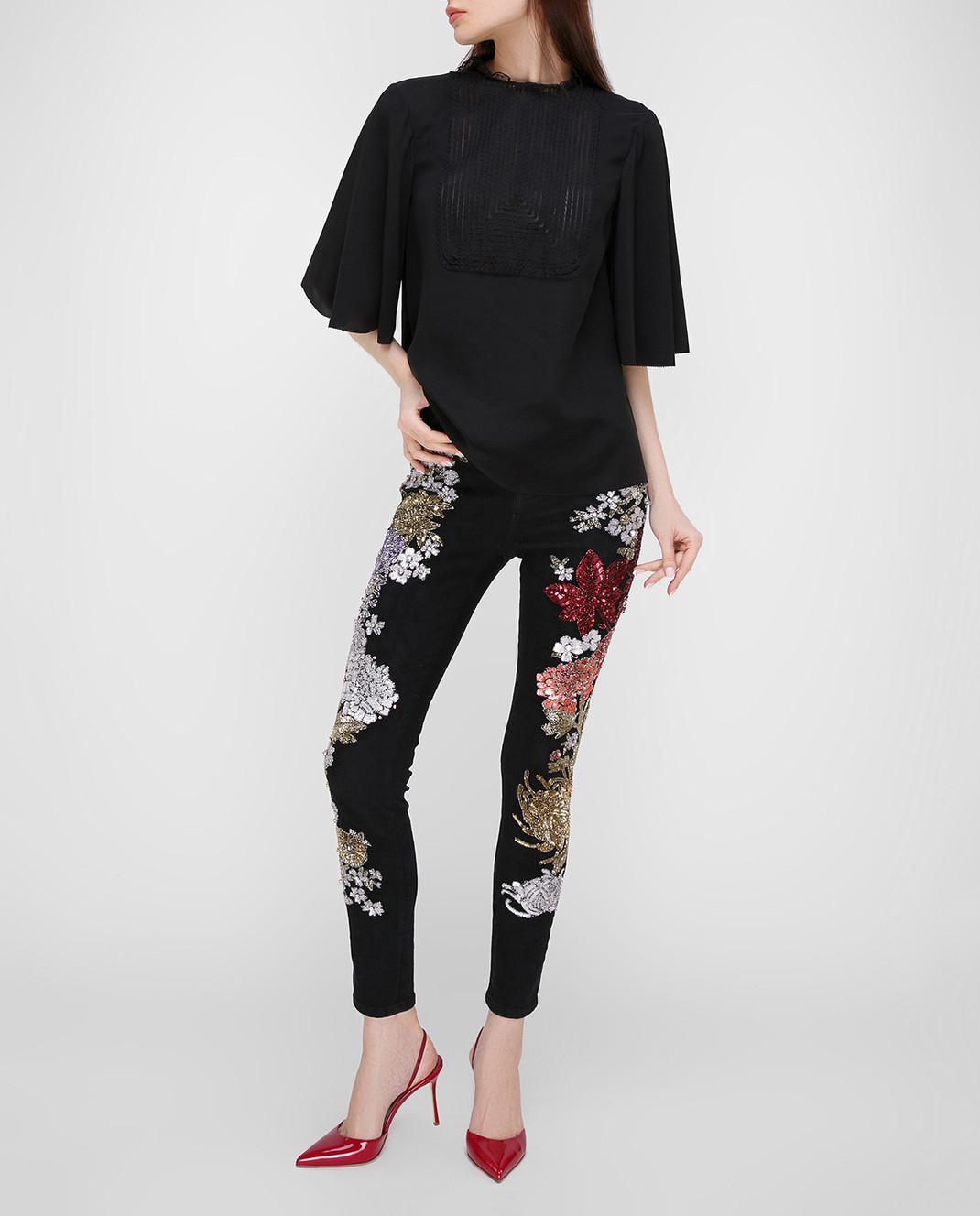 Amen Черные джинсы с пайетками изображение 2