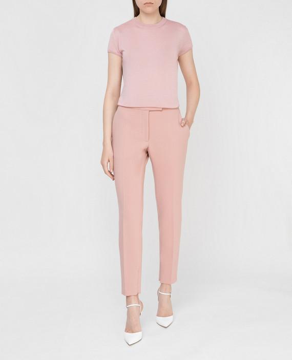 Розовые брюки из шерсти hover