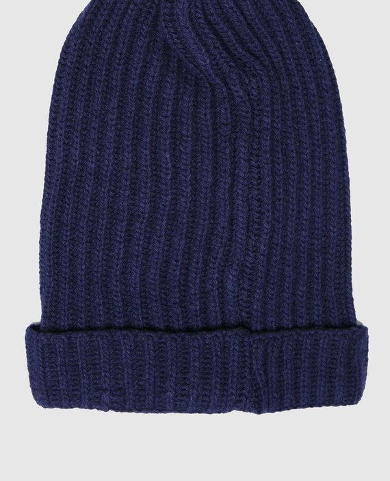 Детская синяя шапка hover