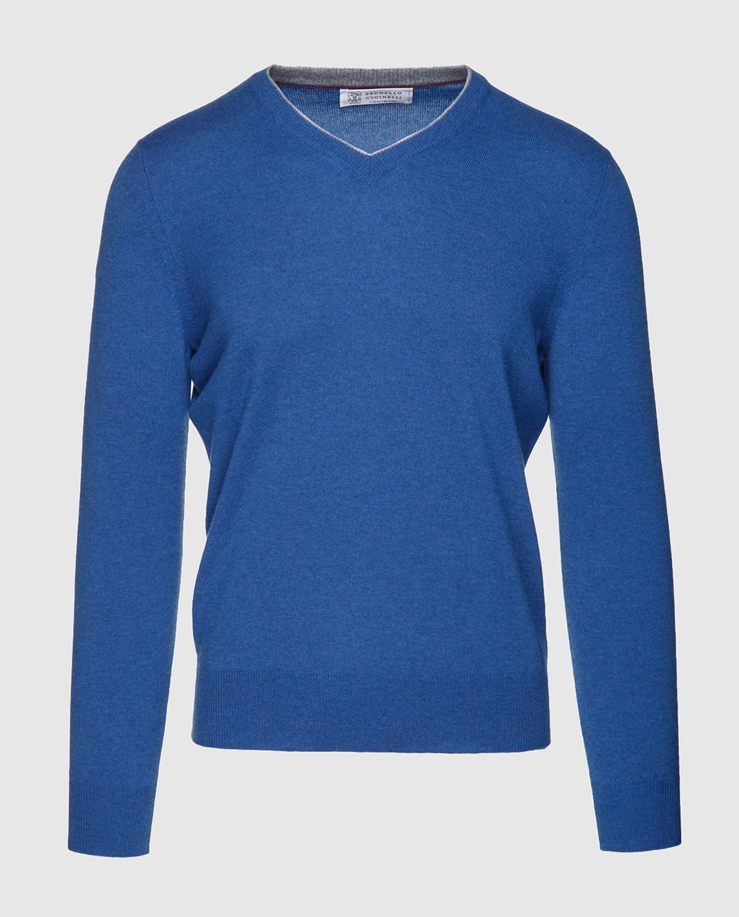 Brunello Cucinelli Синий пуловер M2200162