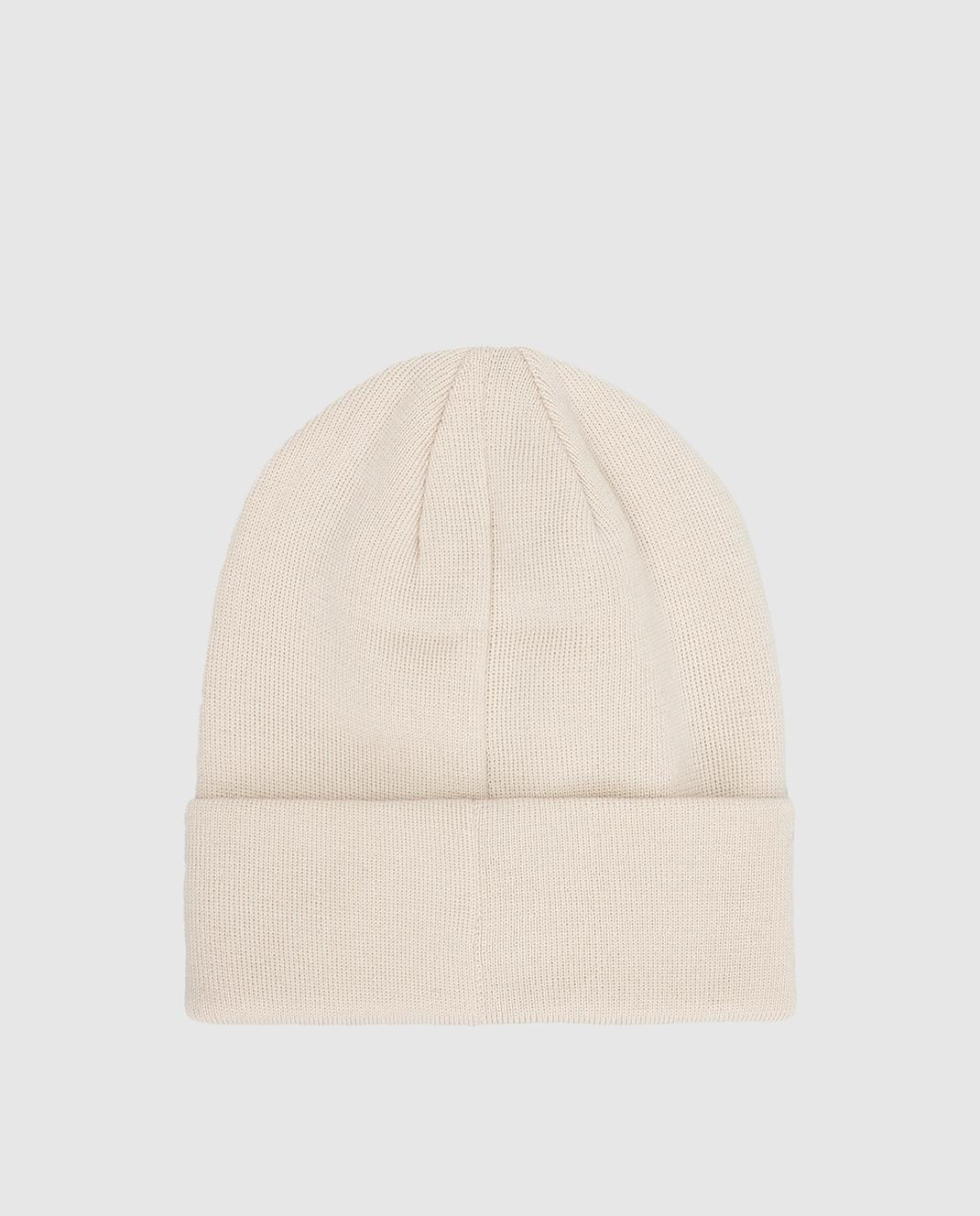 Il Trenino Детская светло-бежевая шапка из шерсти изображение 2