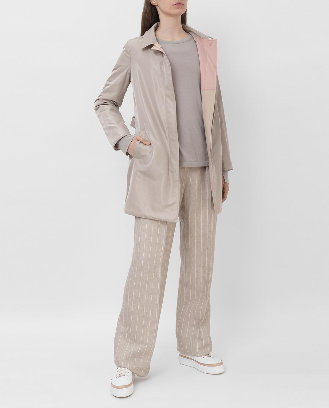 Loro Piana Двусторонняя куртка с воротником из меха лисицы F1FAI2541 изображение 2