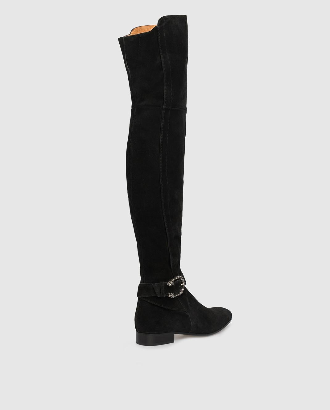 Gucci Черные замшевые ботфорты 432083CXZ10 изображение 4