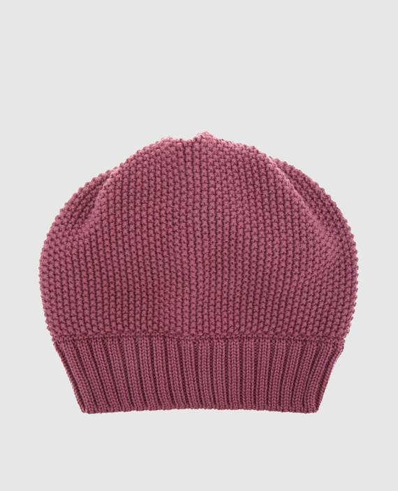 Детская темно-розовая шапка
