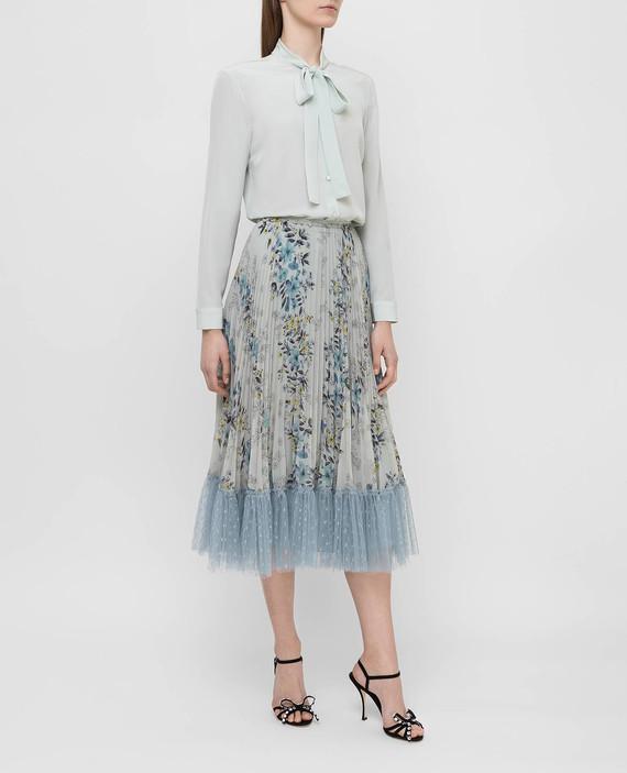 Светло-бирюзовая юбка hover