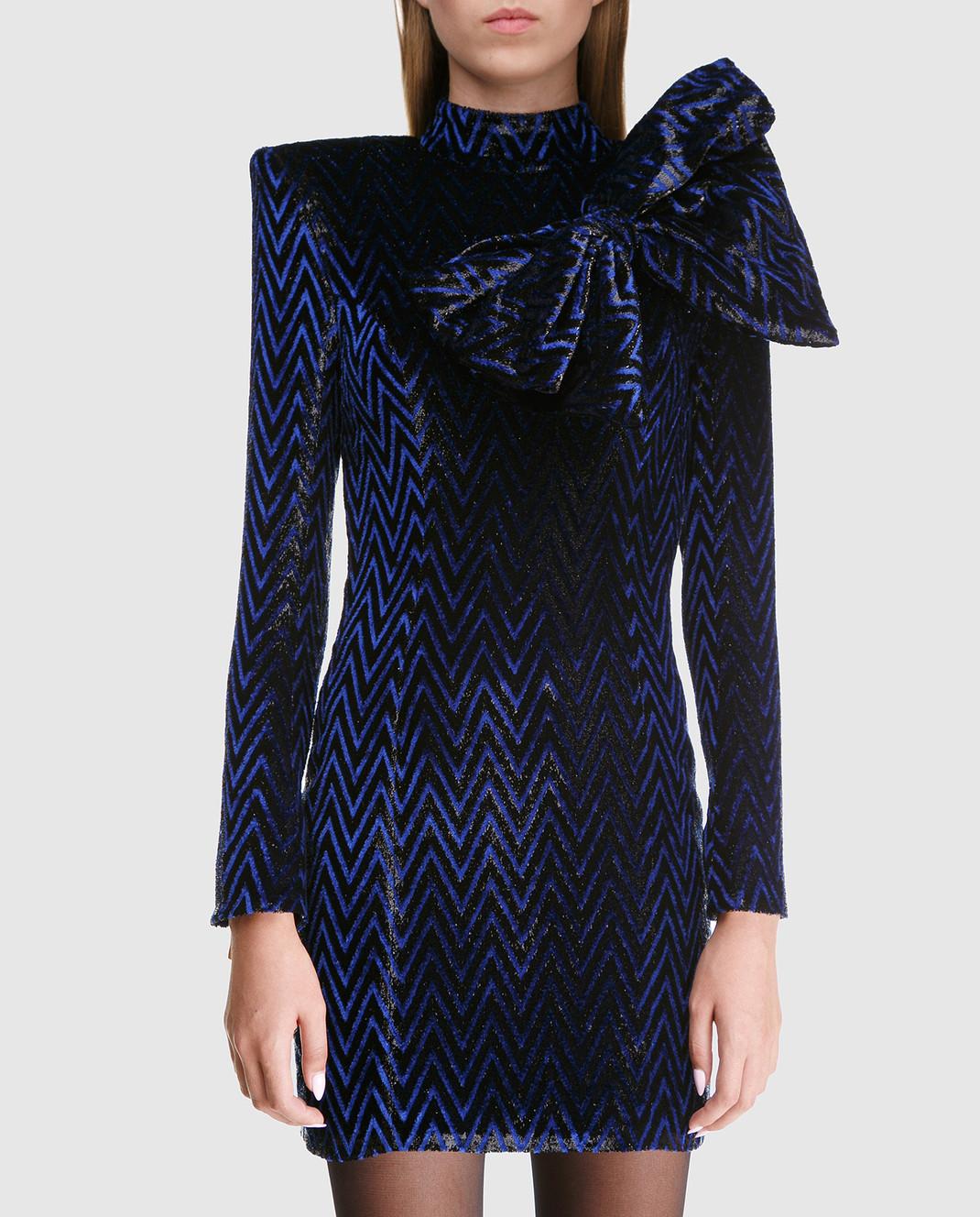 Balmain Синее платье с блестками 143140 изображение 3