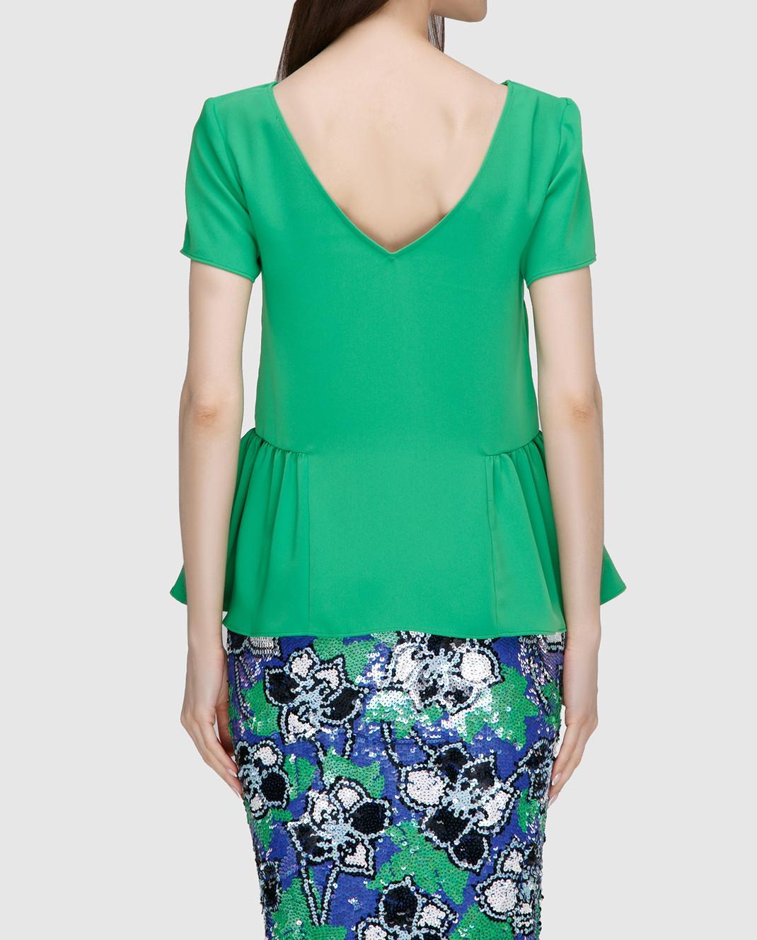 PAROSH Зеленая блуза D310311 изображение 4