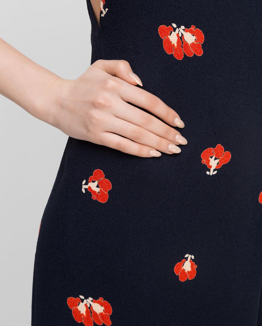 Victoria Beckham Темно-синее платье DRMID6317C изображение 5
