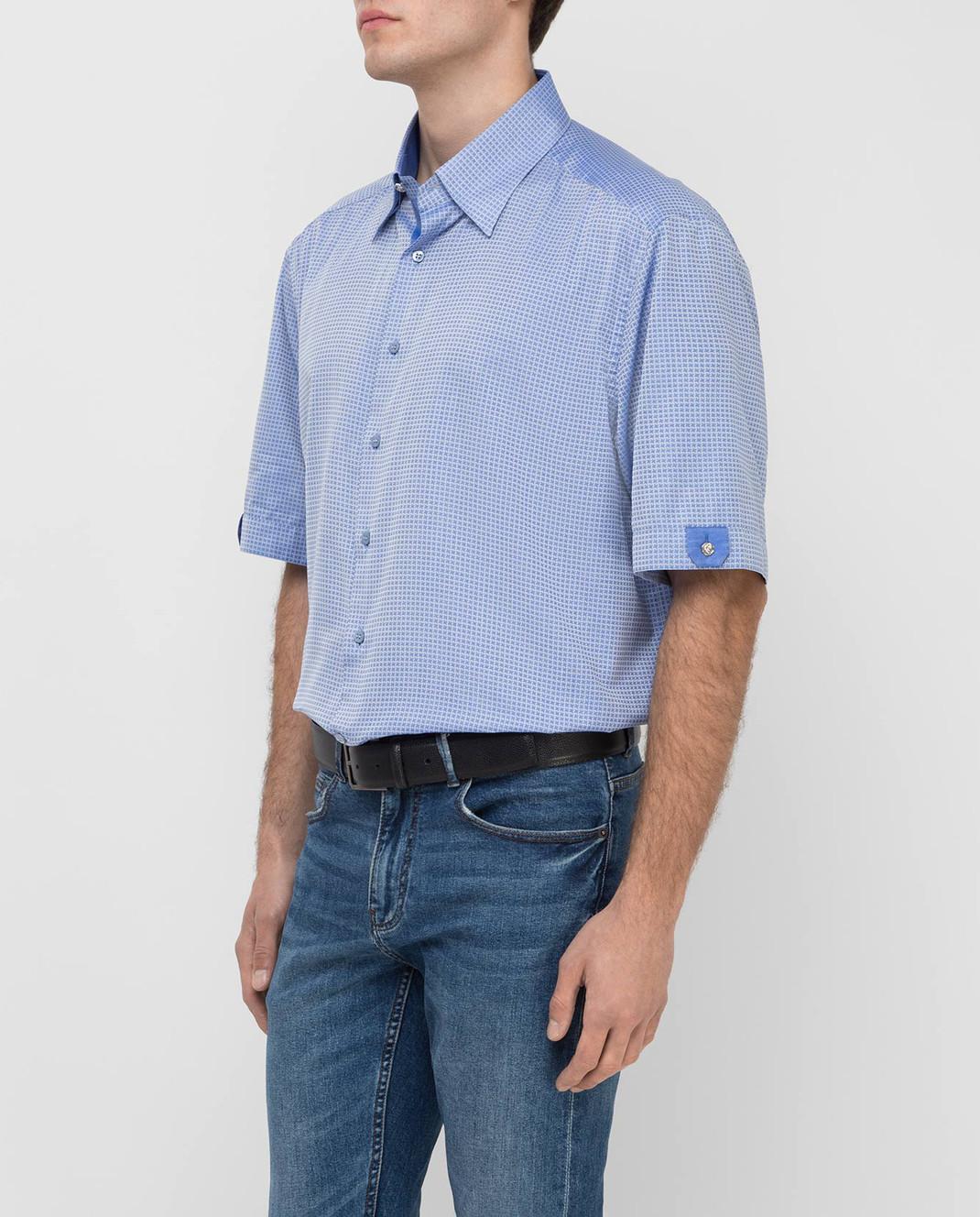 Stefano Ricci Голубая рубашка MC0020801553 изображение 3