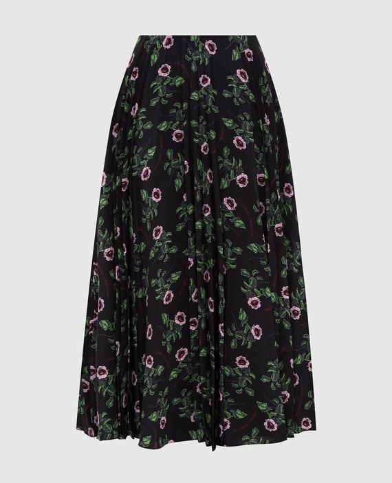 Черная юбка из шелка