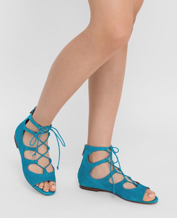 Синие замшевые сандалии hover
