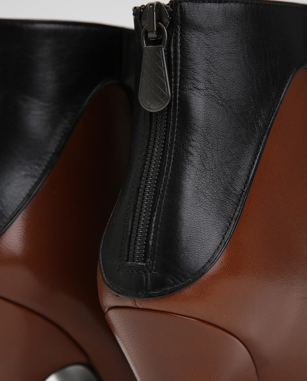 Bottega Veneta Черные кожаные ботильоны 533051 изображение 5