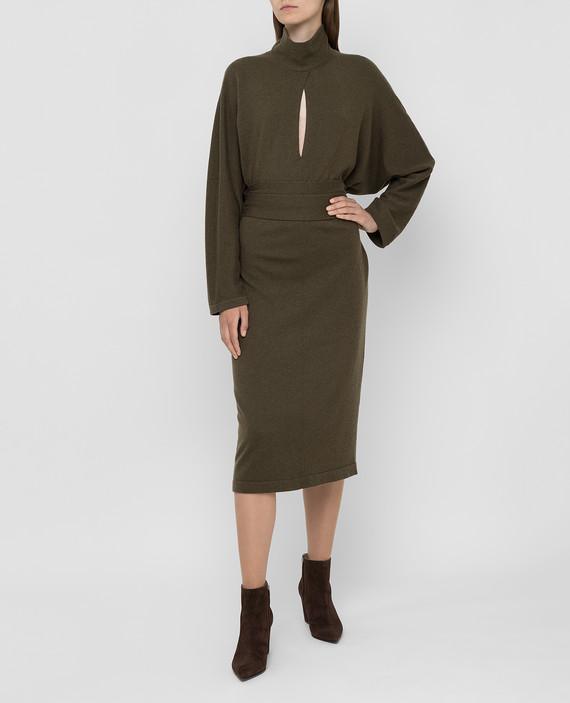 Зеленое платье из кашемира hover