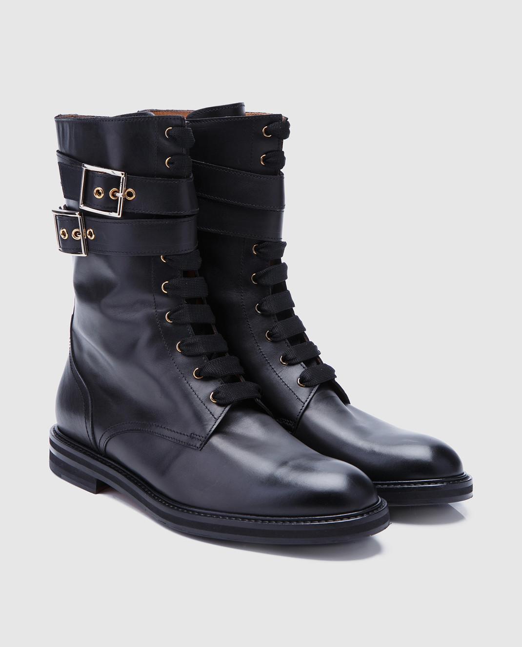 Doucal's Черные кожаные ботинки DD8260SOFIUF063 изображение 2
