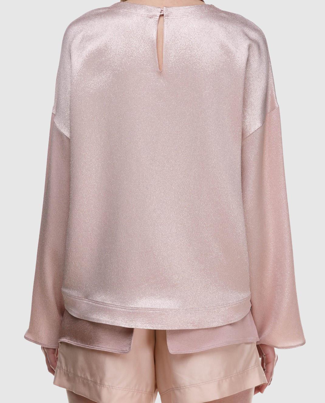 Valentino Розовая блуза PB0AE2R53VF изображение 5