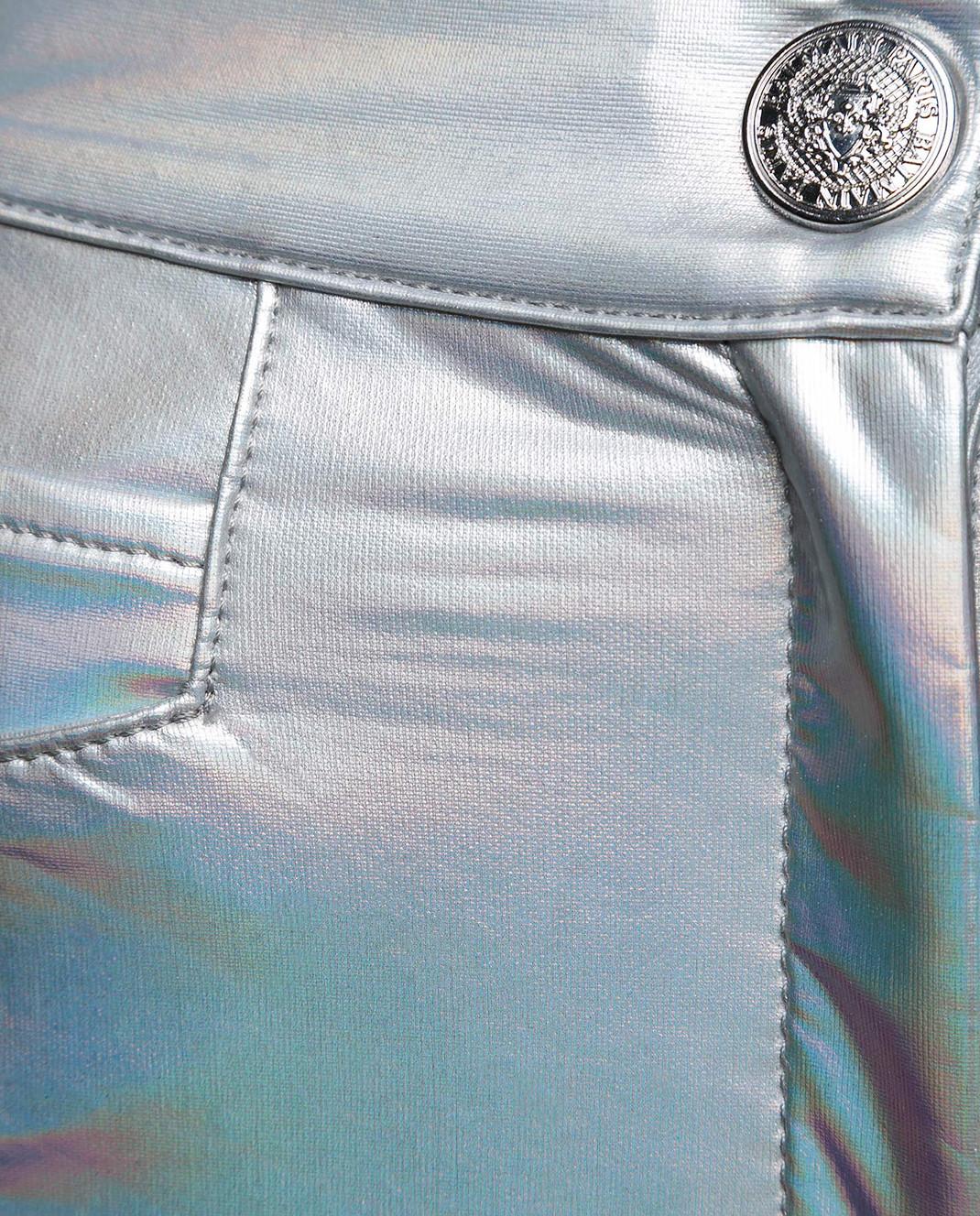 Balmain Серебристые брюки изображение 5