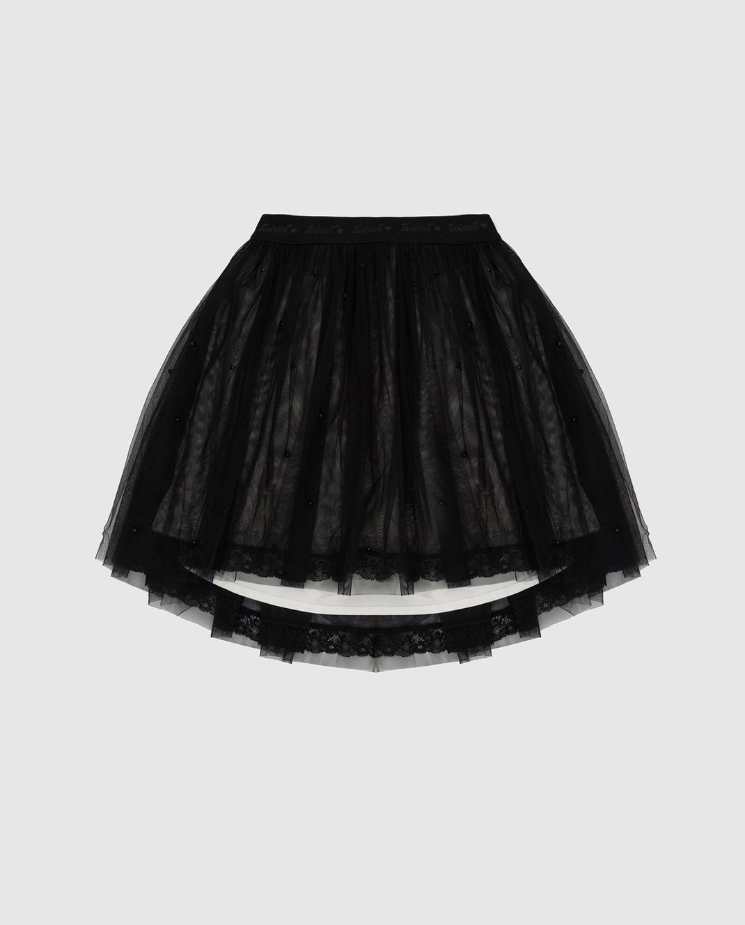 Twin Set Детская черная юбка GA82JE1214