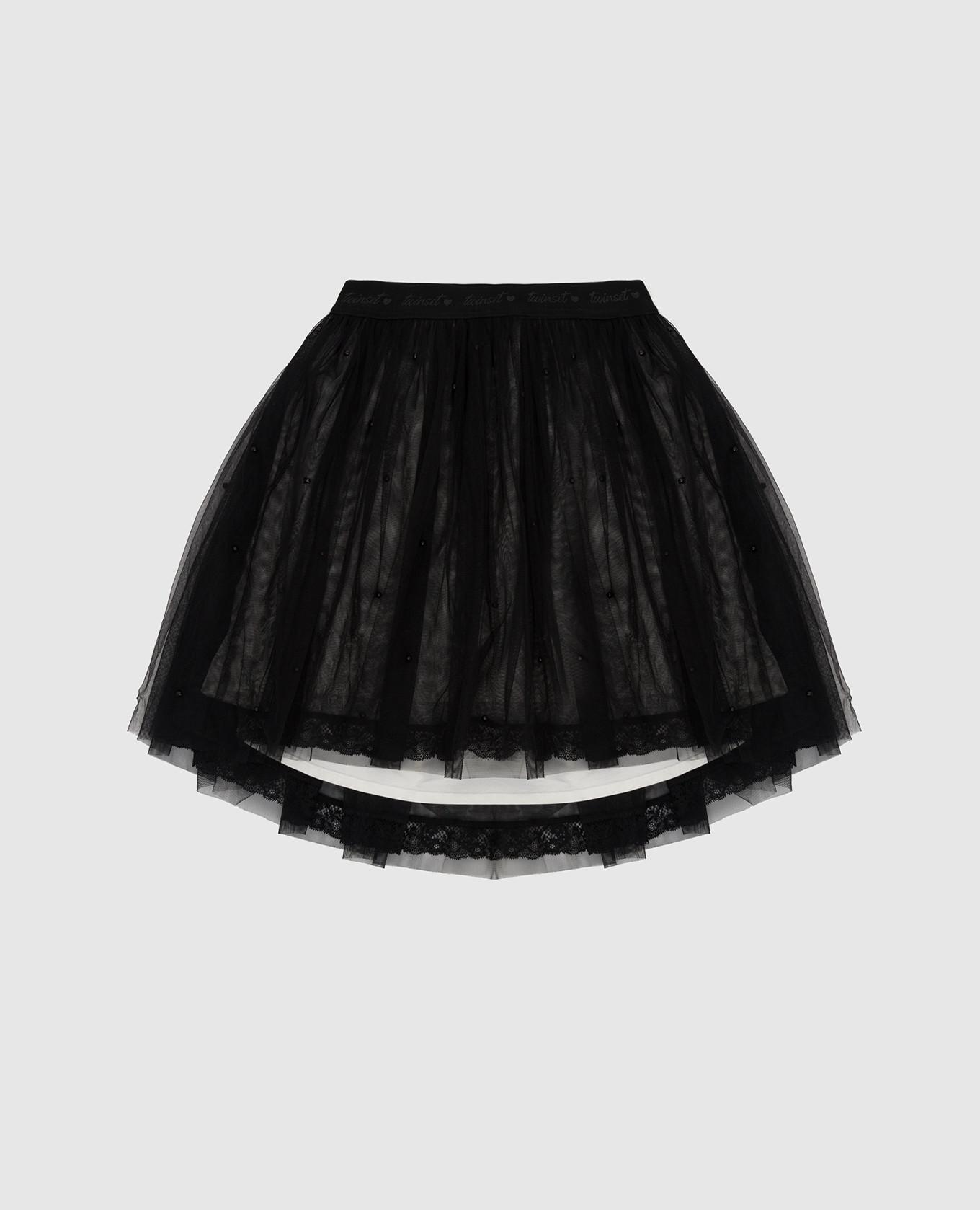 Детская черная юбка