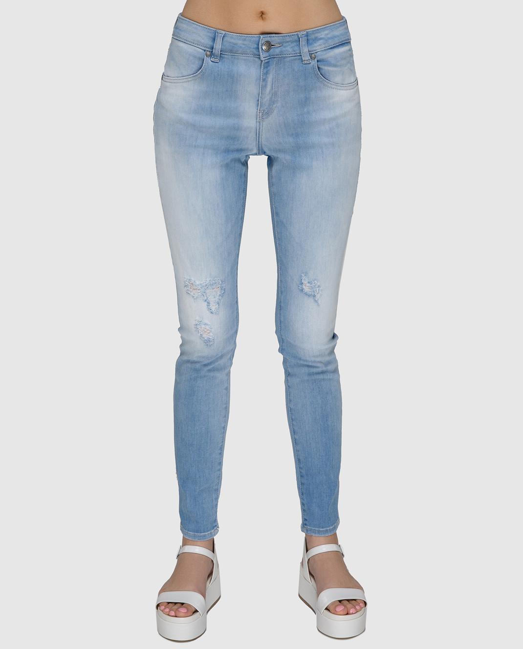 FAY Голубые джинсы NTW8234524LOJN изображение 3