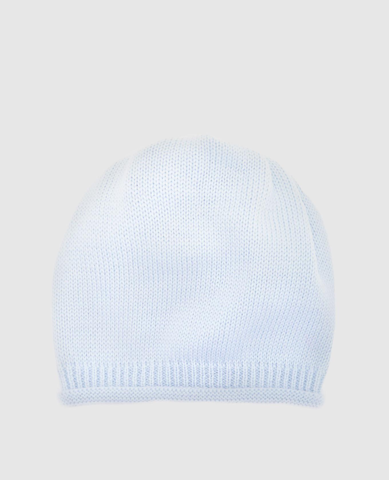 Детская голубая шапка