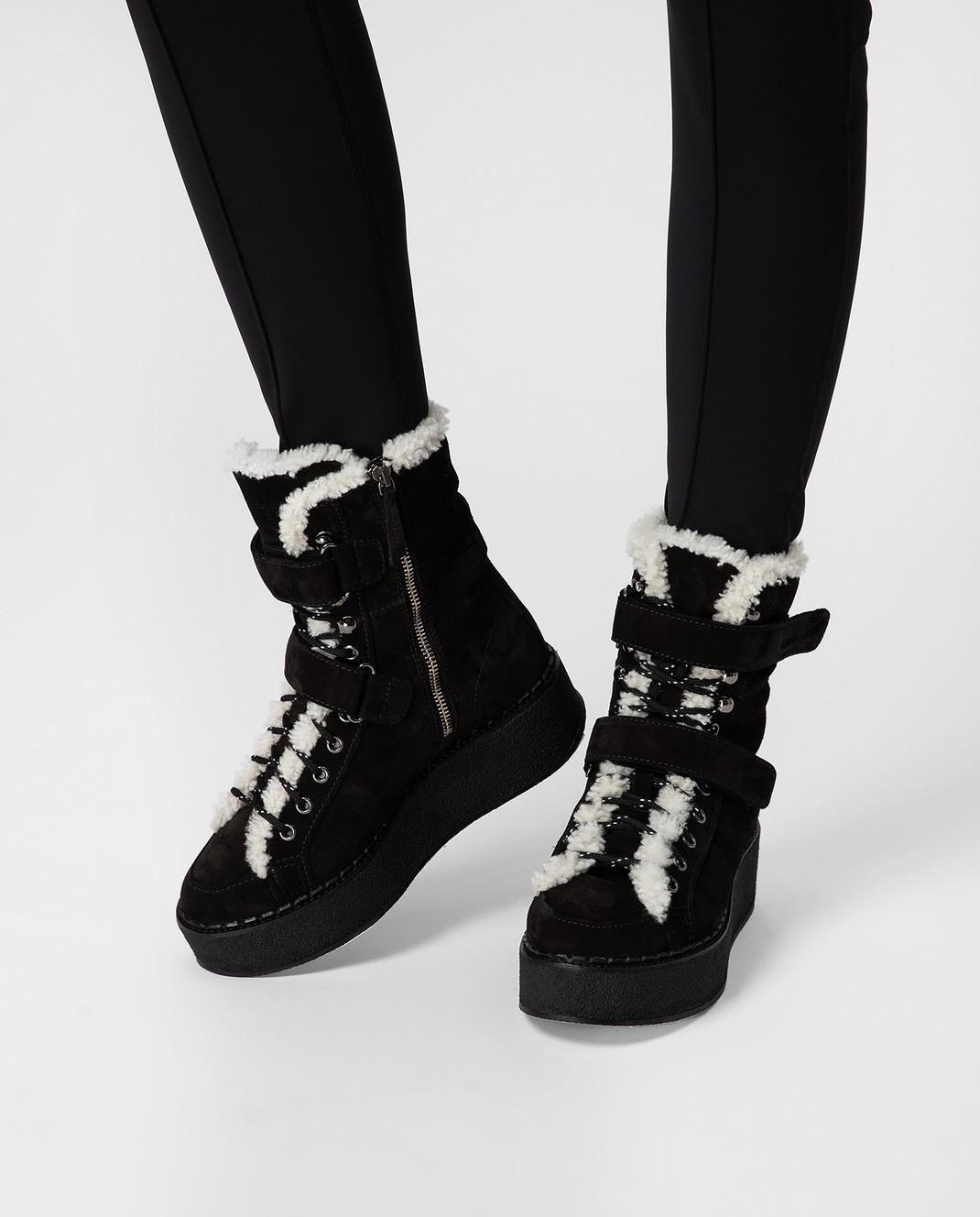 Moncler Черные замшевые ботинки 20482 изображение 2