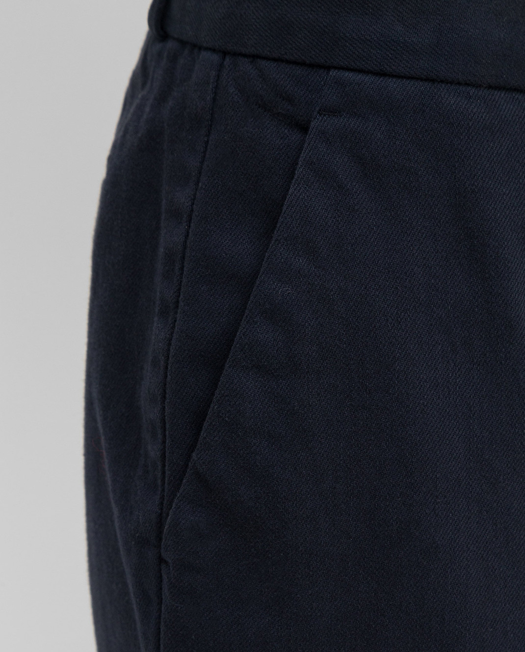 Loro Piana Темно-синие брюки F1FAI5089 изображение 5