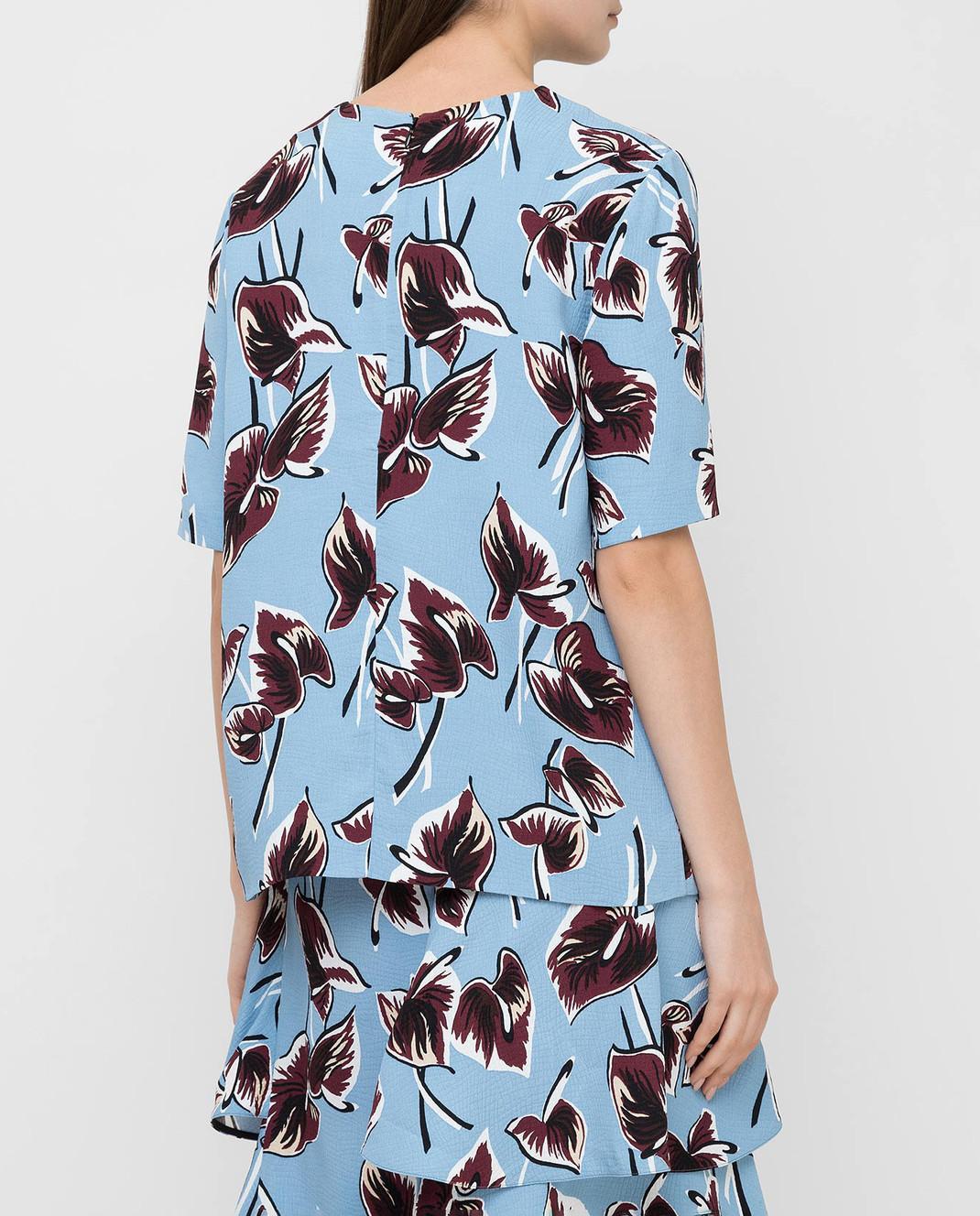 Marni Голубая блуза CAMAQ28A00TV456 изображение 4